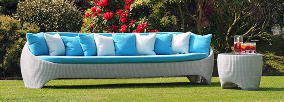Long Sofa with Cushions