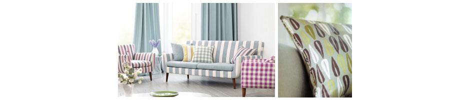 Stripes and Retro cushion designs